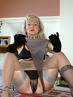 layered nylon play for milf
