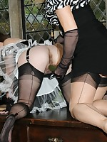 maid gets lesson from her mistress