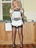 upskirt maid in sheer frilly panties